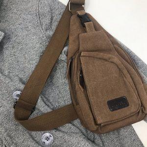 NWOT Flrsh Canvas Sling Bag